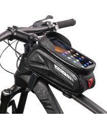 Waterdichte Fietstas Stuur Racefiets/Mountainbike met Smartphonehouder