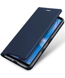 Dux Ducis Skin Pro Series Sony Xperia 10 III Hoesje Wallet Case Blauw