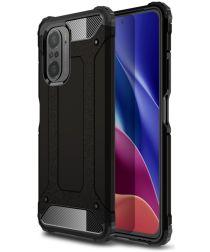 Xiaomi Poco F3 / Mi 11i Hoesje Shock Proof Hybride Back Cover Zwart