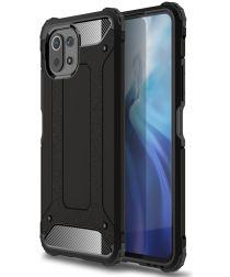 Xiaomi Mi 11 Lite 4G / 5G Hoesje Shock Proof Hybride Back Cover Zwart