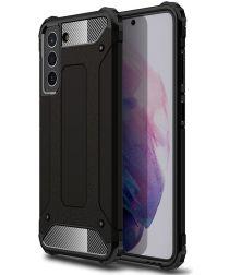 Samsung Galaxy S21 FE Hoesje Shock Proof Hybride Back Cover Zwart