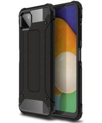 Samsung Galaxy A22 5G Hoesje Shock Proof Hybride Back Cover Zwart