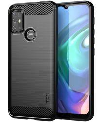 Motorola Moto G10 / G20 / G30 Hoesje Geborsteld TPU Back Cover Zwart
