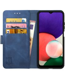 Rosso Element Samsung Galaxy A22 5G Hoesje Book Cover Blauw