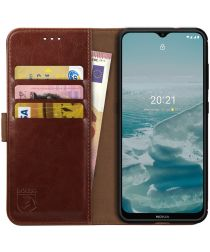 Rosso Element Nokia G10 / G20 Hoesje Book Cover Wallet Bruin