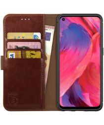 Rosso Element Oppo A74 5G Hoesje Book Cover Wallet Bruin