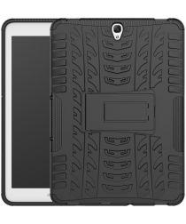 Samsung Galaxy Tab S3 Hoes Robuust Hybride Back Cover Zwart