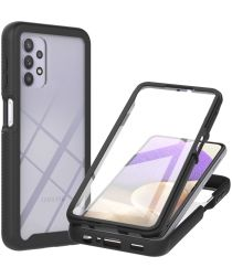 Samsung Galaxy A32 5G Hoesje Full Protect 360° Cover Hybride Zwart