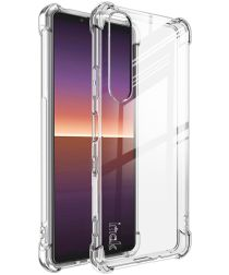 Sony Xperia 1 III Hoesje Dun TPU met Screen Protector Transparant