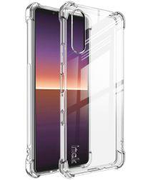 Sony Xperia 10 III Hoesje Dun TPU met Screen Protector Transparant