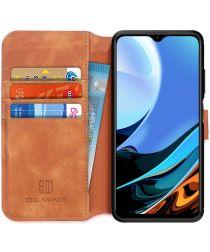 Xiaomi Redmi 9T Hoesje Retro Wallet Book Case Bruin