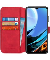 Xiaomi Redmi 9T Hoesje Retro Wallet Book Case Rood
