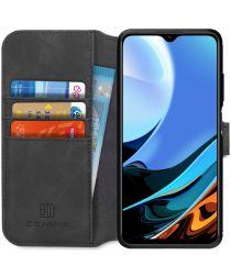Xiaomi Redmi 9T Hoesje Retro Wallet Book Case Zwart