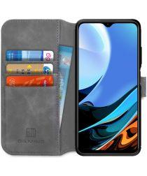 Xiaomi Redmi 9T Hoesje Retro Wallet Book Case Grijs
