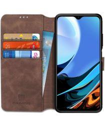 Xiaomi Redmi 9T Hoesje Retro Wallet Book Case Coffee