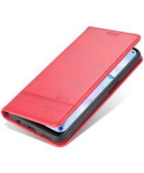 AZNS Oppo A74 5G Hoesje Portemonnee Book Case Kunstleer Rood