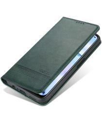 AZNS Oppo A74 5G Hoesje Portemonnee Book Case Kunstleer Groen