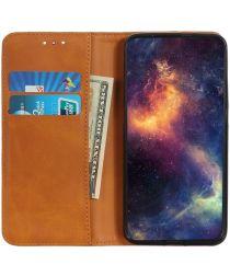 Oppo A74 4G Hoesje Portemonnee Book Case Kunstleer Lichtbruin