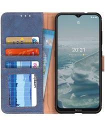 KHAZNEH Nokia 6.3 / G10 / G20 Hoesje Retro Portemonnee Book Case Blauw