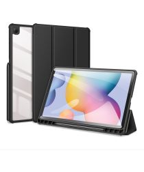 Dux Ducis Toby Samsung Galaxy Tab S6 Lite Hoes Tri-Fold Bookcase Zwart