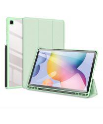 Dux Ducis Toby Samsung Galaxy Tab S6 Lite Hoes Tri-Fold Bookcase Groen