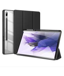 Dux Ducis Toby Samsung Galaxy Tab S7 FE Hoes Tri-Fold Book Case Zwart