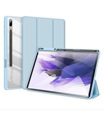 Dux Ducis Toby Samsung Galaxy Tab S7 FE Hoes Tri-Fold Book Case Blauw