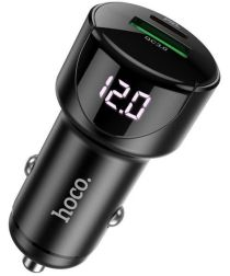 Hoco 3A Fast Charge Autolader met Quick Charge 3.0 en 20W PD Zwart