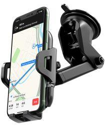 Hoco 360° Verstelbare Dashboard/Raam Telefoon Houder met Zuignap Zwart