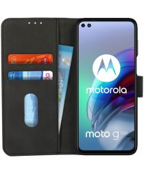KHAZNEH Motorola Moto G100 Hoesje Retro Wallet Book Case Zwart