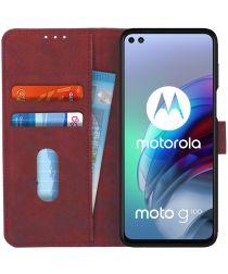 KHAZNEH Motorola Moto G100 Hoesje Retro Wallet Book Case Rood