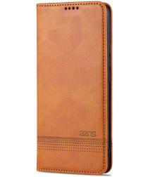 AZNS Xiaomi Mi 11 Ultra Hoesje Book Case Kunst Leer Lichtbruin