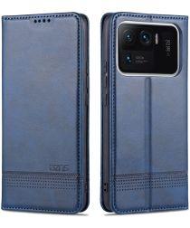 AZNS Xiaomi Mi 11 Ultra Hoesje Portemonnee Book Case Kunstleer Blauw
