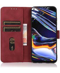 KHAZNEH Xiaomi Mi 11 Ultra Hoesje Retro Portemonnee Book Case Rood