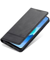 AZNS Oppo A74 4G Hoesje Portemonnee Book Case Kunstleer Zwart