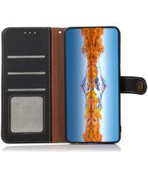 Nokia X10 / X20 Hoesje RFID Portemonnee Book Case Echt Leer Zwart
