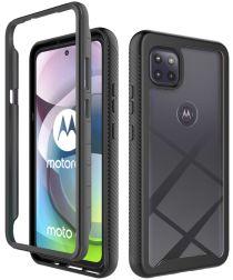 Motorola Moto G 5G Hoesje Volledig Schokbestendig Hybride Cover Zwart