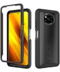 Xiaomi Poco X3 / X3 Pro Hoesje Volledig Schokbestendig Cover Zwart