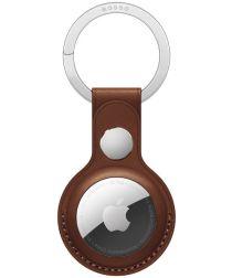Rosso Deluxe Apple AirTag Sleutelhanger Echt Leer Hoesje Bruin