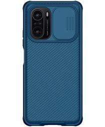 Nillkin CamShield Xiaomi Poco F3 / Mi 11i Hoesje Camera Slider Blauw