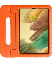 Samsung Galaxy Tab A7 Lite Kinder Tablethoes met Handvat Oranje