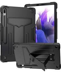 Samsung Galaxy Tab S7 FE/S7 Plus Hoes Kickstand Back Cover Zwart