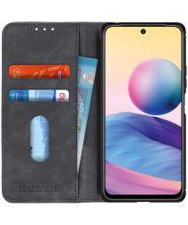 KHAZNEH Xiaomi Redmi Note 10 5G/Poco M3 Pro Hoesje Book Case Zwart