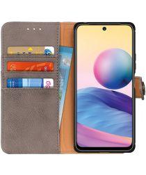 Xiaomi Redmi Note 10 5G/Poco M3 Pro Hoesje Portemonnee Book Case Grijs