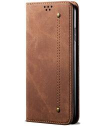 Xiaomi Redmi Note 10 5G/Poco M3 Pro Hoesje Jeans Book Case Bruin
