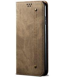 Xiaomi Redmi Note 10 5G/Poco M3 Pro Hoesje Jeans Book Case Groen