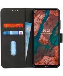 KHAZNEH Nokia X10/X20 Hoesje Retro Wallet Book Case Zwart