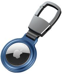 Apple AirTag Sleutelhanger Metalen Case met Magnetische Sluiting Blauw
