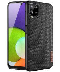 Dux Ducis Fino Series Samsung Galaxy A22 4G Hoesje Back Cover Zwart