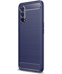 OnePlus Nord CE 5G Hoesje Geborsteld TPU Back Cover Blauw